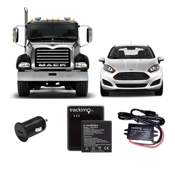 GSP Vehicle Tracking Kit + Battery + Car Lighter Charger Adapter